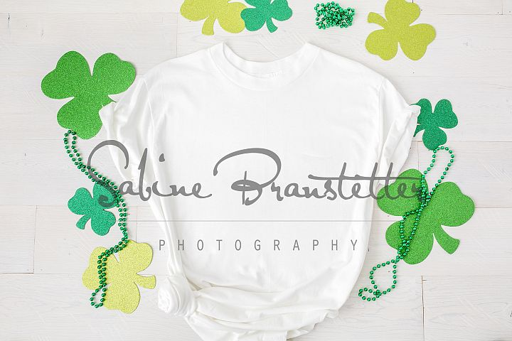 Styled Stock Photo Womens St. Patricks Day T-shirt Mockup
