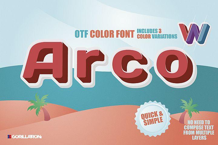 SVG color font - Arco
