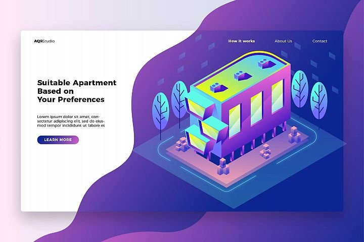 Apartment - Banner & Landing Page