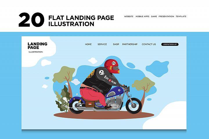 20 Various Flat Landing Page Website Illustration