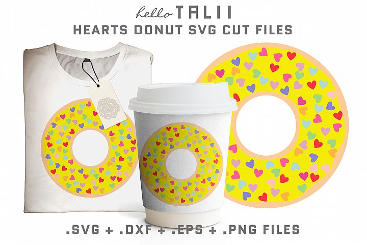 Hearts Donut SVG Cut Files