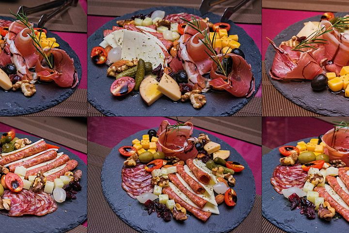 6 files - food platter