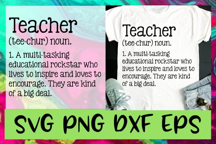 Teacher Definition SVG PNG DXF & EPS Design & Cut Files