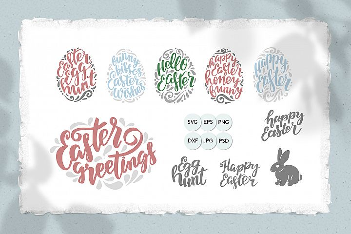 Happy Easter - SVG cut files