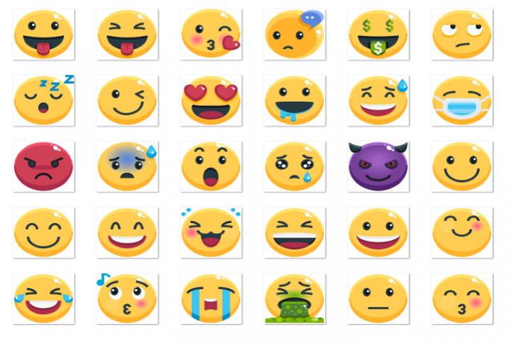 Emoji planar plane