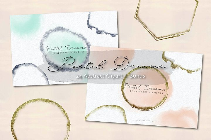 Pastel Dreams Abstract Clipart | Invitations