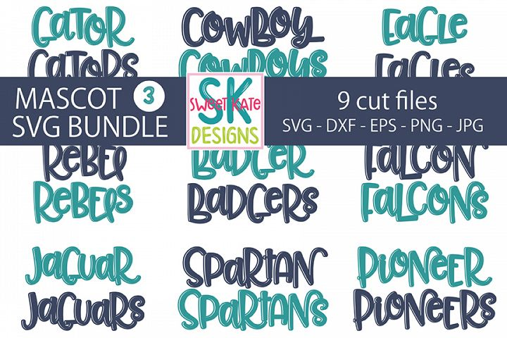 9 Mascot SVG Bundle 03 - SVG DXF EPS PNG JPG