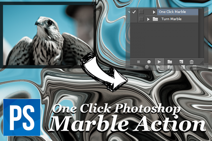 One Click Marble Photoshop Action - Turn Any Photo into Marble example 1