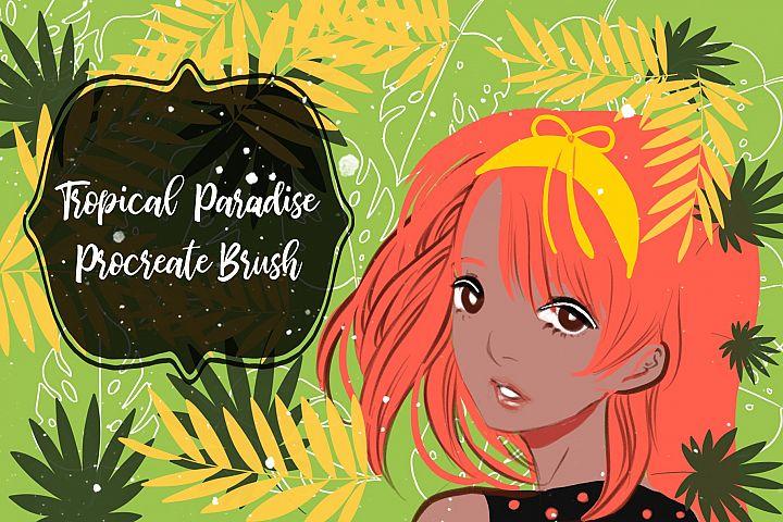 Tropical paradise procreate brush
