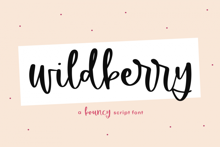 Wildberry - A Bouncy Handwritten Script Font