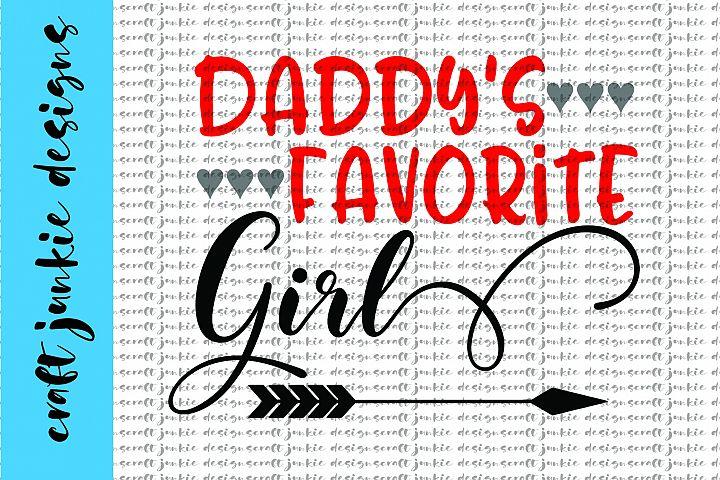 Daddys Favorite Girl SVG