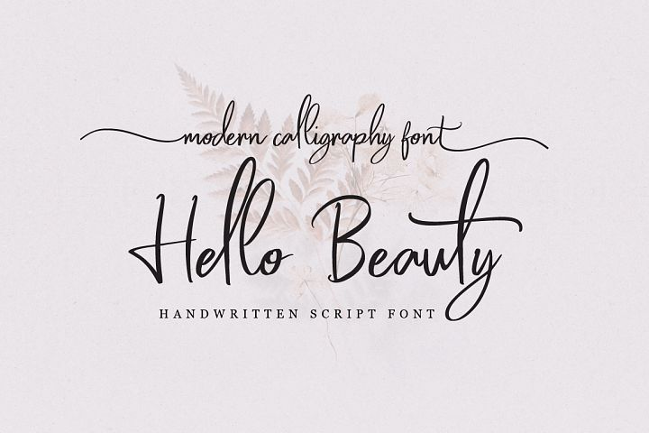 Hello Beauty - Handwritten Font