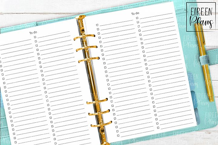 To Do Lists Printable for A5 planners