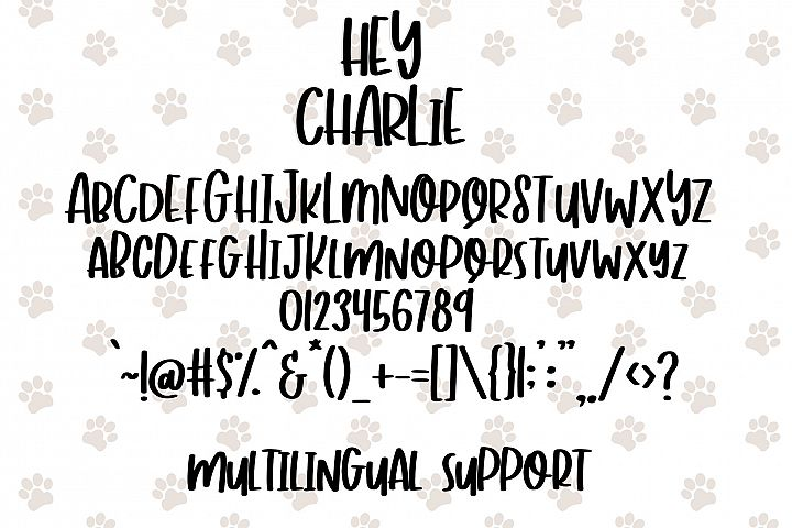 Hey Charlie - Fun Mixed Case Font - Free Font of The Week Design1