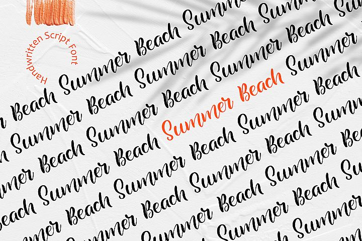 Summer Beach Handwriting Font