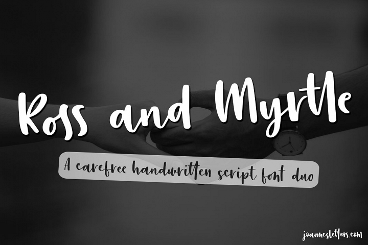 Ross and Myrtle A Handwritten Script Font Duo