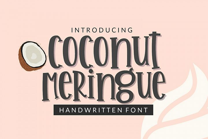 Coconut Meringue- Handwritten Font for Crafters TTF & OTF