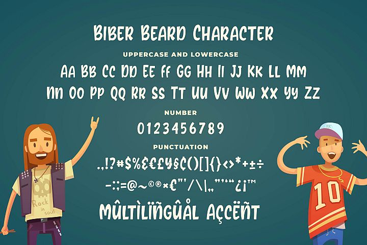 Biber Beard - Playful Rounded Font example image 5