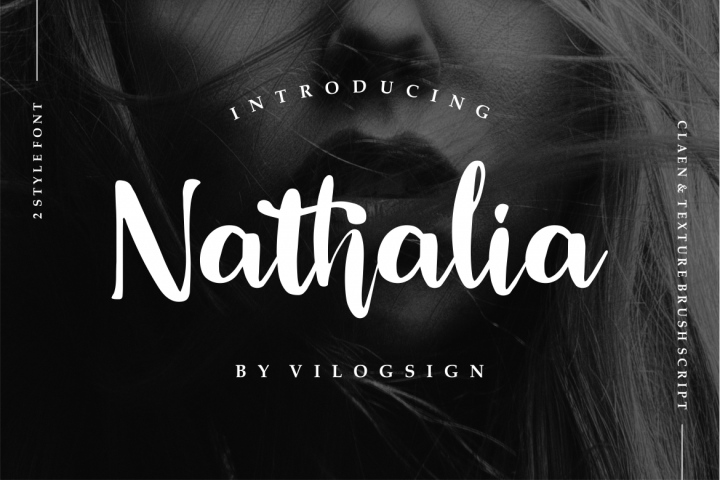 Nathalia // Modern Handwritten Script Font