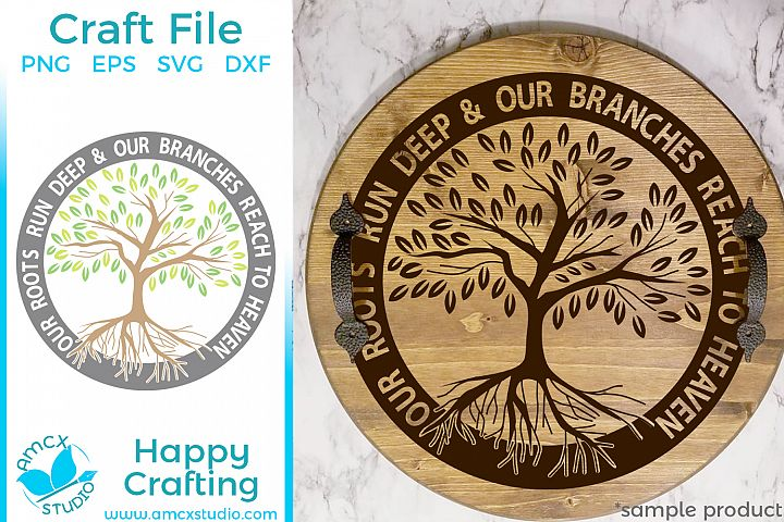 Our Roots Run Deeps, Family Tree - Die Cut SVG Craft File