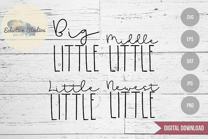 Little Siblings SVG Set