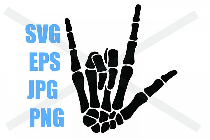 Skeleton Hand I love you- SVG-EPS-JPG-PNG