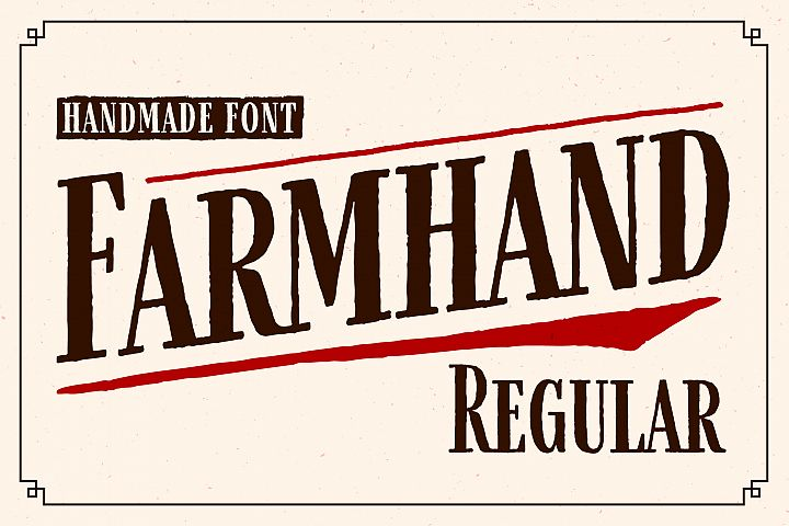 Farmhand Regular Font