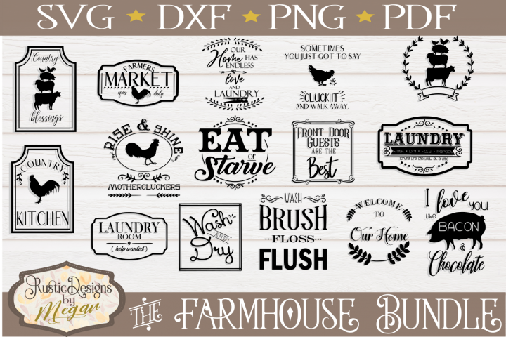 Farmhouse SVG bundle - farmhouse cut files