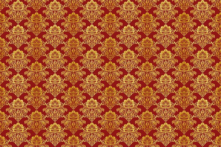 Floral gold seamless pattern. Hohloma. example image 4