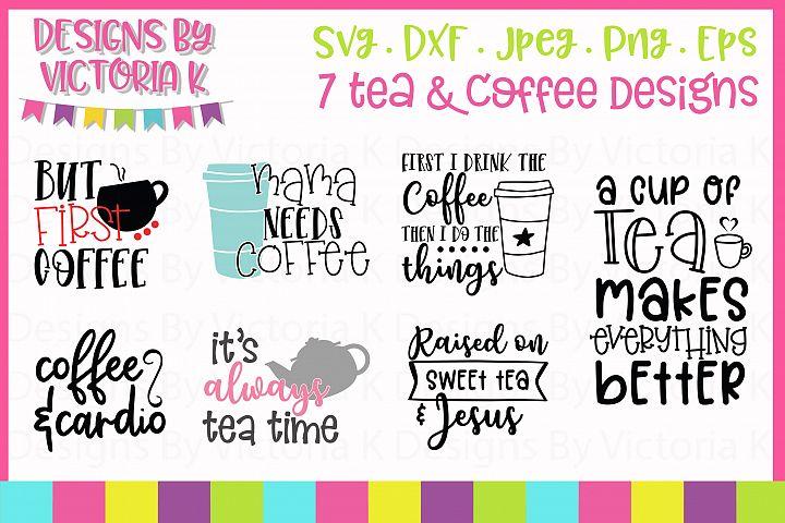 Tea & Coffee Bundle, SVG, DXF,
