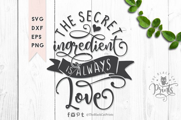 The secret ingredient SVG DXF EPS PNG