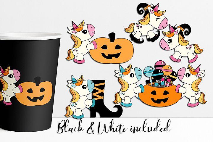 Halloween Unicorn Illustrations