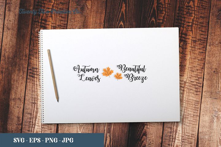 Autumn Breeze Beautiful Leaves Cut File - SVG, EPS, PNG, JPG