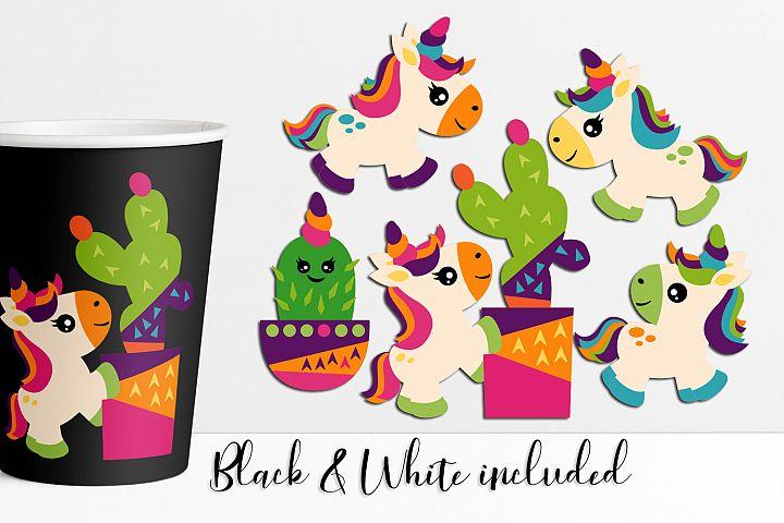 Summer Unicorn Clip art Illustrations