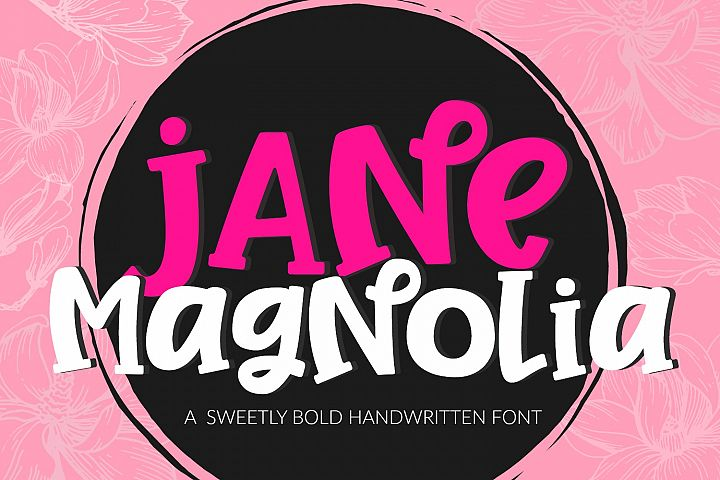 Jane Magnolia- Cut-Friendly Handwritten Font