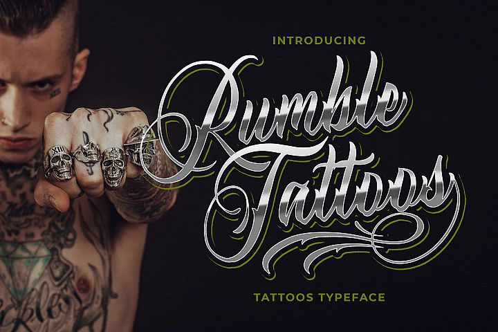 Rumble Tattoos - Tattoos Typeface