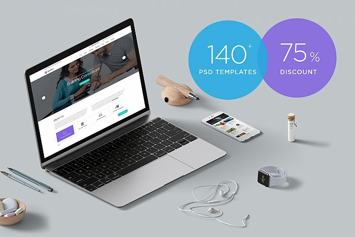 PSD Bundle - 140+ PSD templates
