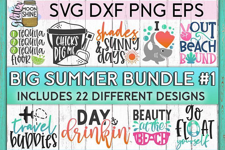 Big Summer Bundle of 22 SVG DXF PNG EPS Cutting Files #1