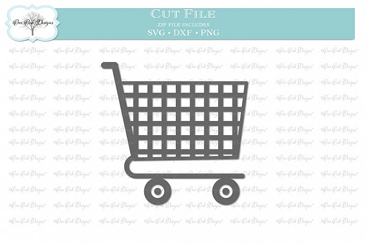 Shopping Cart - SVG DXF PNG