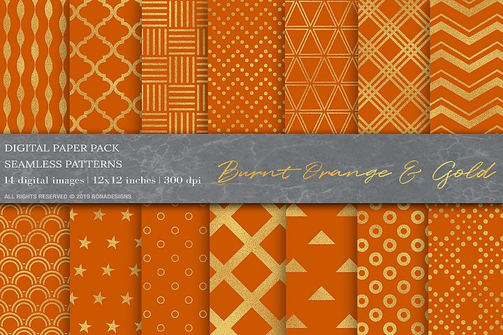 Gold Geometric Digital Papers, Gold Patterns, Wedding