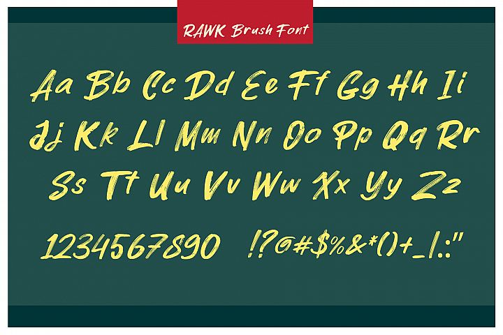 ROCK on RAWK | SVG Font Duo example image 3