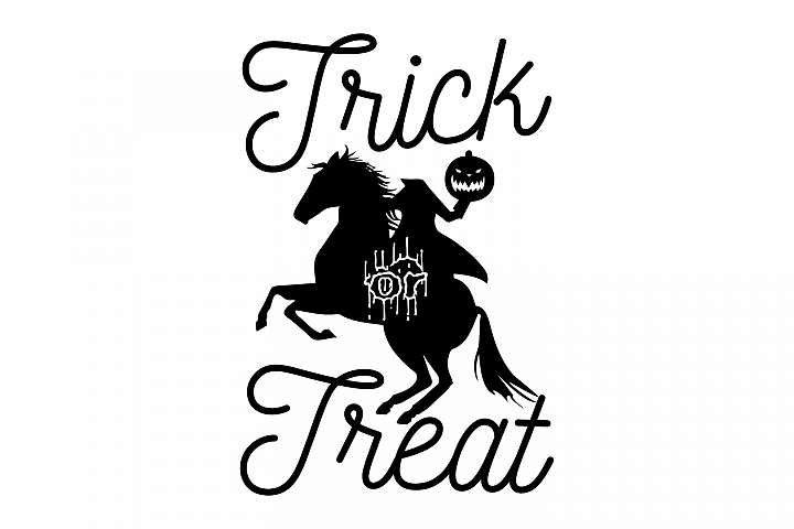 Headless Horseman Trick or Treat svg