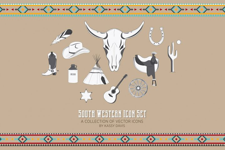 South Western Vector Illustrations