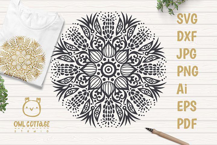 Tattoo ornament SVG, Mandala Decor Cut File