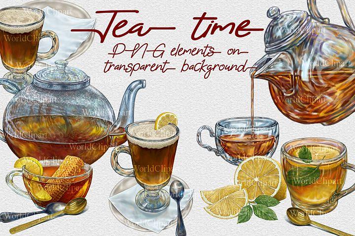 Tea time Clip Art illustration