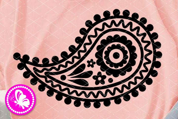 Paisley svg Flower Indian clip art Floral png Zen tangle art