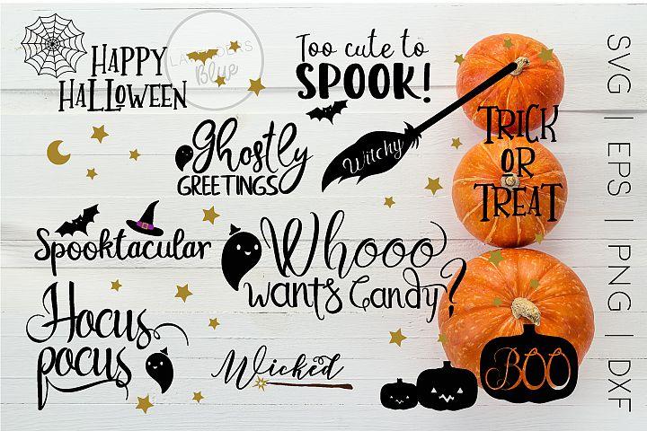 Halloween SVG Bundle Vol 1 | 10 Designs eps|svg|dxf|pnf