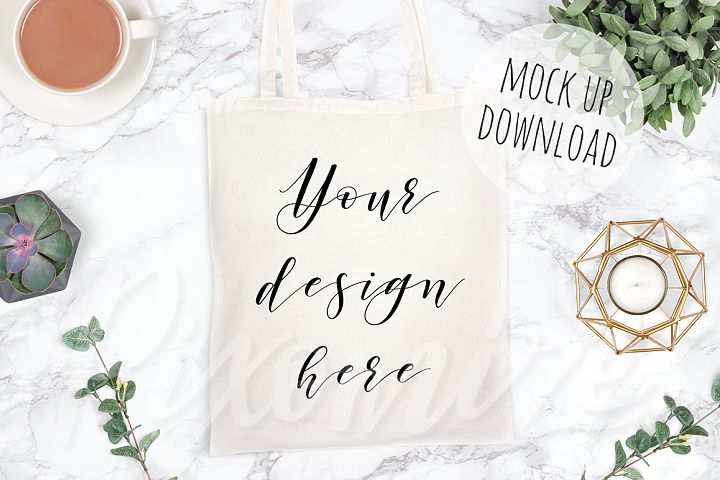 Neutral Tote Bag Mockup Photo