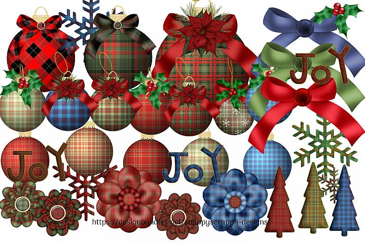 Tartan Christmas Decorations