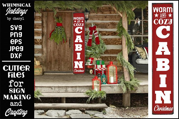 Cozy Cabin Christmas-Vertical Christmas SVG